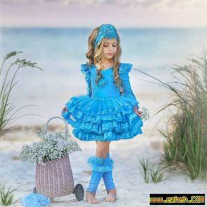 لباس مجلسی دخترانه مدل دریا