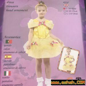 لباس پرنسس زرد پوش