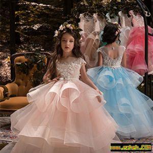 لباس مجلسی دخترانه مدل پرنسس3