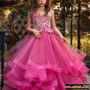لباس مجلسی دخترانه مدل پرنسس4