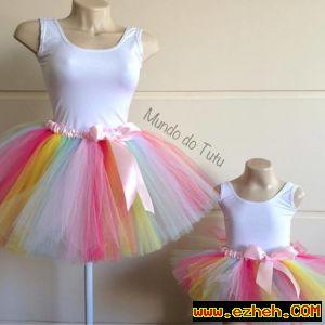 لباس ست مادر و دختر رنگین کمان