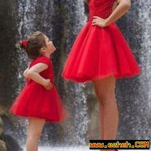 لباس ست مادر و کودک  قرمز 2