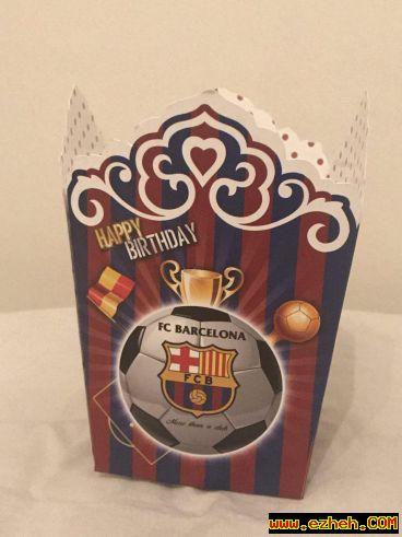 جعبه پاپ کورن تم بارسلونا