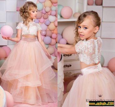 لباس مجلسی دخترانه مدل پرنسس2