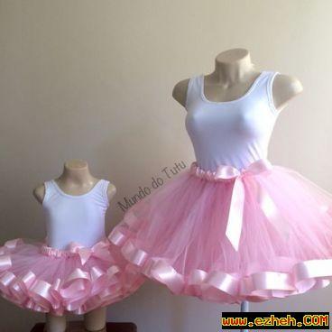لباس ست مادر و دختر دامن توتو 2